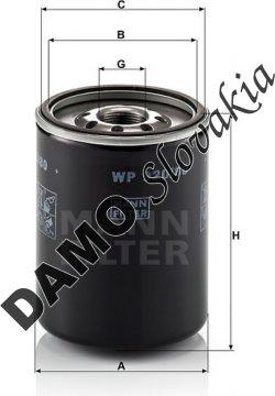 Olejový filter MANN FILTER WP 920/80