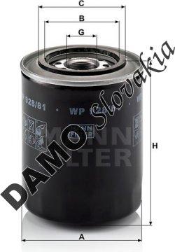 Olejový filter MANN FILTER WP 928/81