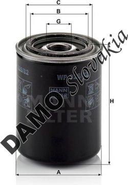 Olejový filter MANN FILTER WP 928/82