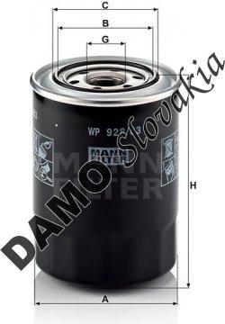 Olejový filter MANN FILTER WP 928/83