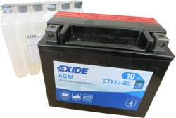 EXIDE BIKE 12V 10Ah 160A, ETX12-BS