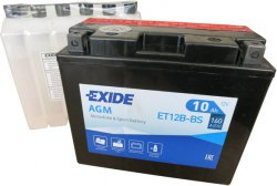 EXIDE BIKE 12V 10Ah 160A, ET12B-BS