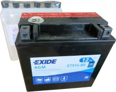EXIDE BIKE 12V 12Ah 200A, ETX14-BS