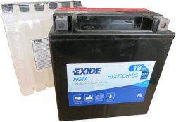 EXIDE BIKE 12V 18Ah 230A, ETX20CH-BS
