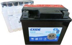 EXIDE BIKE 12V 4Ah 70A, ETX5L-BS