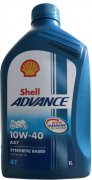 SHELL ADVANCE AX7 4T 10W-40 - 1l