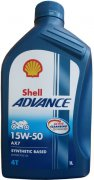 SHELL ADVANCE AX7 4T 15W-50 - 1l