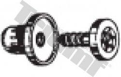 Klipsa so závrtnou skrutkou 6,2 x 12,0 mm