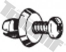 Klipsa so závrtnou skrutkou 6,5 x 8,5 mm