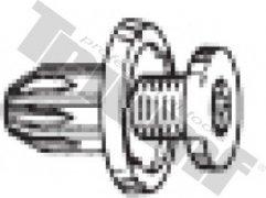 Klipsa so závrtnou skrutkou 10 x 19,0 mm