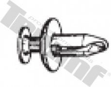 Klipsa s roztláčacím driekom 6,0 x 18,0 mm