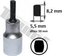 """Hlavica 1/2"""" s elipsovitým nadstavcom, dĺžka 50 mm,šírka 5,5 - 8,2 mm  na rozťahovanie"""
