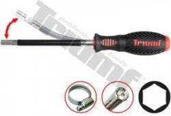 Flexibilný skrutkovač hadicových spôn 6 mm.