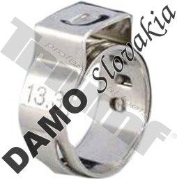 10 ks nerezová spona zatláčacia, rozsah použitia OE 8,8 - 10,5mm