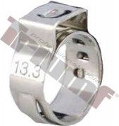 10 ks nerezová spona zatláčacia, rozsah použitia Ø 9,6 - 11,3mm