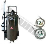 Mobilná pneumatická odsávačka paliva, objem 40L, nerezové telo