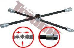 Kľúč krížový na kolesá skladací, štvorhran, dĺžka 40cm - 400 mm