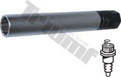 """Hlavica momentová 14 mm predĺžená na zapaľovacie sviečky, 3/8"""" vstup, 125mm dlhá"""