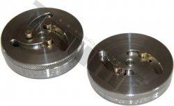 Sada univerzálnych adaptérov na zatláčanie brzdových piestikov s 2 a 3 kolíkmi, dvojdielna s