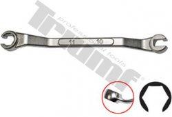 Kľúč vyhnutý na brzdové rozvody 10 x 11 mm, zosilnené konce