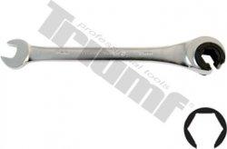 Kľúč očkovidlicový račňový s prerezaným očkom na brzdové potrubia - 8 mm