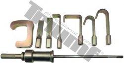 Reverzne kladivo so 7 adaptérmi, 8 dielov