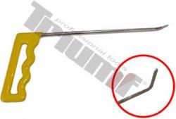 PDR prípravok, ploché zakončenie, 200mm, 45° do ľava skrútený