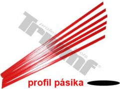 Pásik polyetylénový červený, 1.5 m