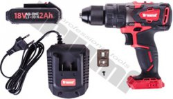 Akumulátorový skrutkovač s kladivovým efektom 18V AQ-ONE, 62 Nm, 2Ah, vrátane nabíjačky a je