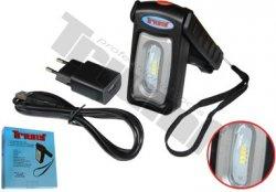 LED skladacia plochá nabijateľná lampa s COB pásikom