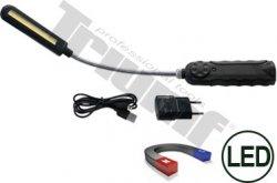 LED lampa,8W, ohybný krk, nastaviteľný jas, so silným magnetom a indikátorom nabíjania