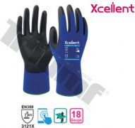 Rukavica pracovná xcellent, 18-001, nylon, polyuretan X-wet 7 / S