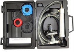 Tester tesnosti - tlaku v chladiacom systéme, pomocou univerzálneho tvarovacieho balónika