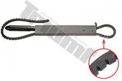 Pásový kľúč s vrúbkovanou pásovou remenicou,
