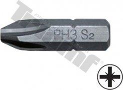 bit krížový  PZ3-30L-8mm driek, materiál S2, vhodné do sád 150,171,176 dielnych