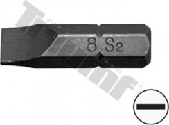 bit plochý  SL8-30L-8mm driek, materiál S2, vhodné do sád 150,171,176 dielnych