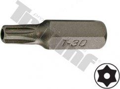 bit torx vŕtaný T30H-30L-8mm driek, materiál S2, vhodné do sád 150,171,176 dielnych