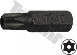 bit torx vŕtaný T40H-30L-8mm driek, materiál S2, vhodné do sád 150,171,176 dielnych