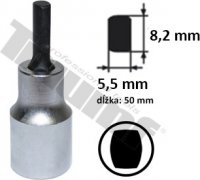 """Hlavica 1/2"""" s elipsovitým nadstavcom, dĺžka 60 mm - šírka 5,5 - 8,2 mm, L = 60 mm"""