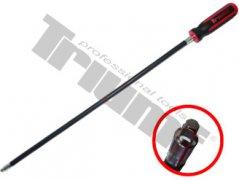 """Flexibilný skrutkovač s 1/4"""" vonk. 4-hr., extra dlhý 500 mm"""