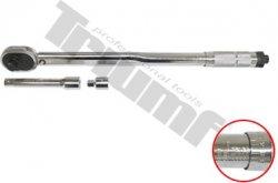 """Momentový kľúč so stupnicou vygravírovanou na drieku. - 1/2"""", 28 - 210 Nm"""