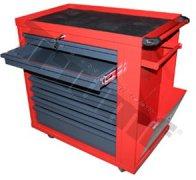 Montážny vozík 8 zásuvkový červeno-šedý