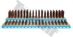 Plný drevený stojan na bity pre sadu bitov obj.č130, 115-dielna