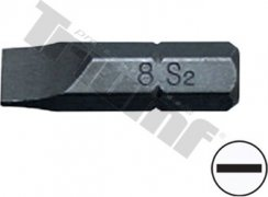 """Bit plochý, 8 mm (5/16"""") driek, dĺžka 30 mm - 10 mm"""