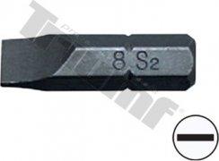 """Bit plochý, 8 mm (5/16"""") driek, dĺžka 30 mm - 12 mm"""