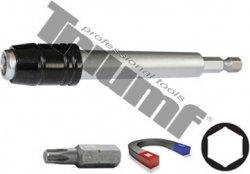 """Adaptér pre 1/4"""" bity, magnetická fixácia bitov + super krúžok,materiál CRV 60 mm"""
