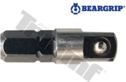 "Adaptér na hlavice, 1/4"", dĺžka 25 mm, krátky, PROFI - L - 25 mm"