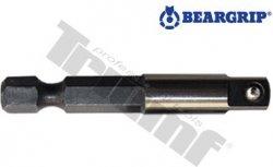 "Adaptér na hlavice, 1/4"", dĺžka 25 mm, krátky, PROFI - L - 50 mm"