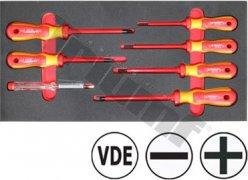 Modul 2K VDE skrutkovačov séria 736MAX, PH-PL+skúšačka, 7 dielny
