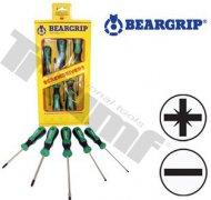 Sada 2K skrutkovačov 5 - dielna séria 740-PD+PL, Beargrip
